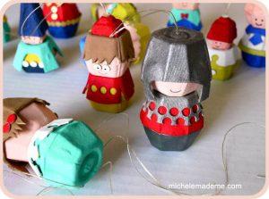 via michelemademe.com/2011/11/dozen-egg-carton-folk-ornaments.html