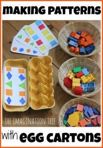 playful maths with egg cartons