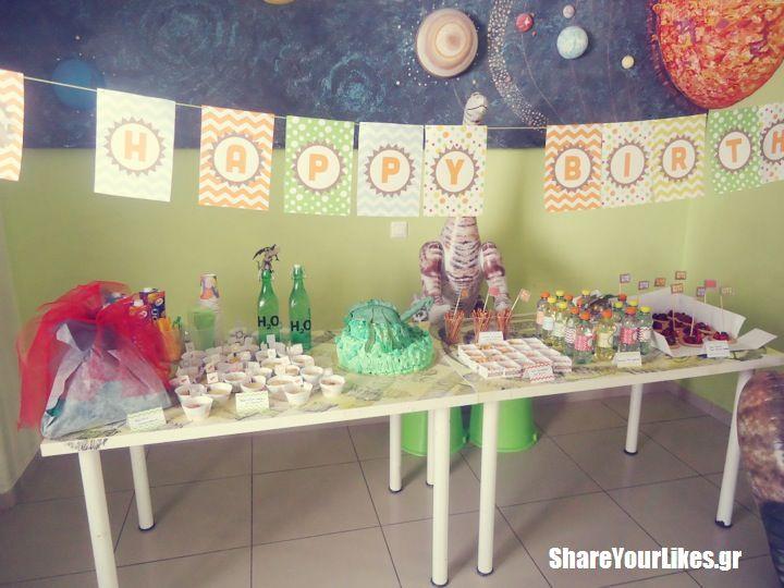 dino party_mpoufes me tourta