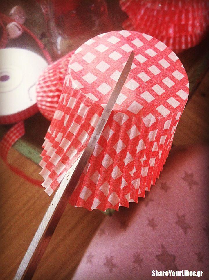 cupcake xmas δεντράκι-diy step1