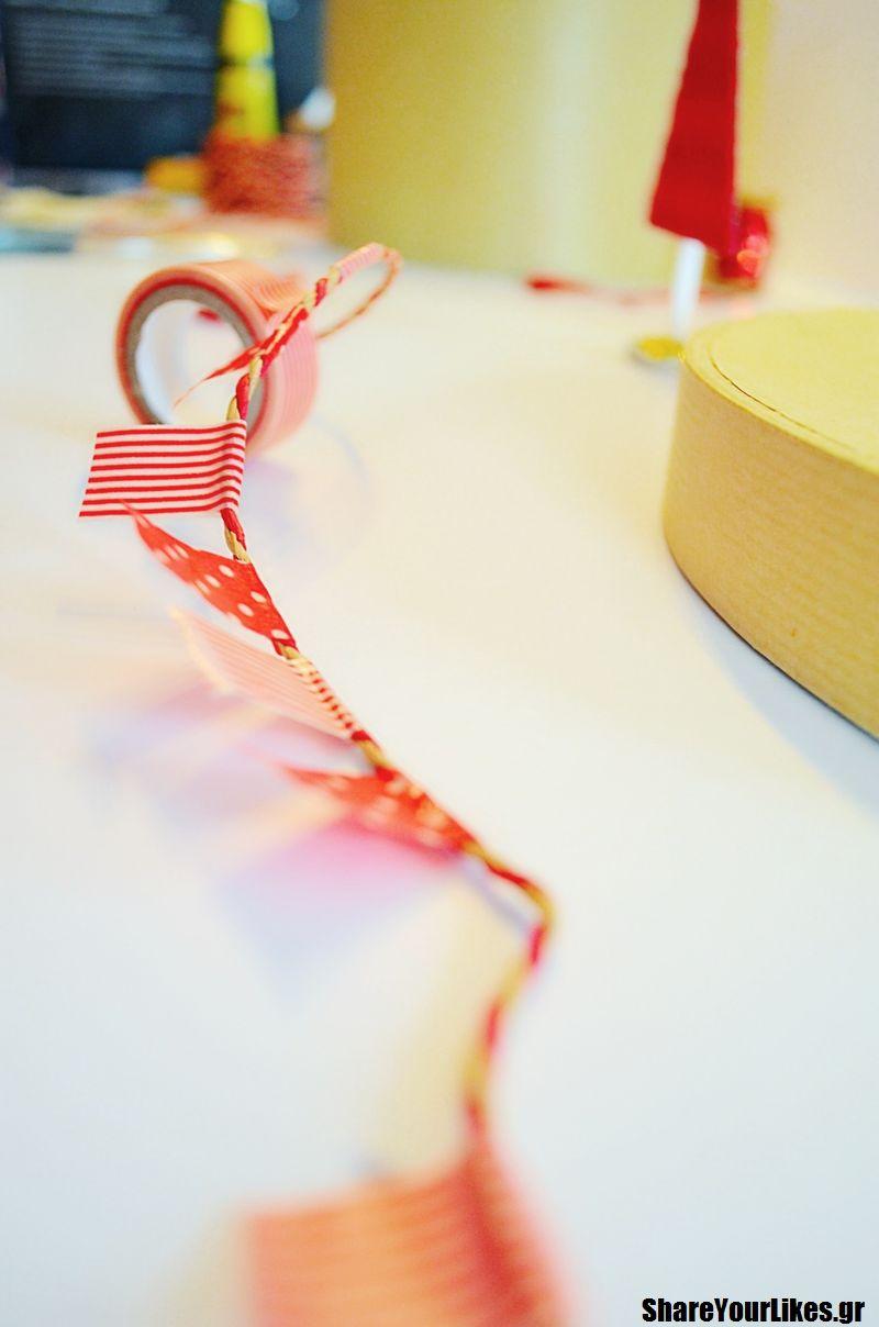 γιορτινή γιρλάντα_DIY_Χριστούγεννα_Πρωτοχρονιά