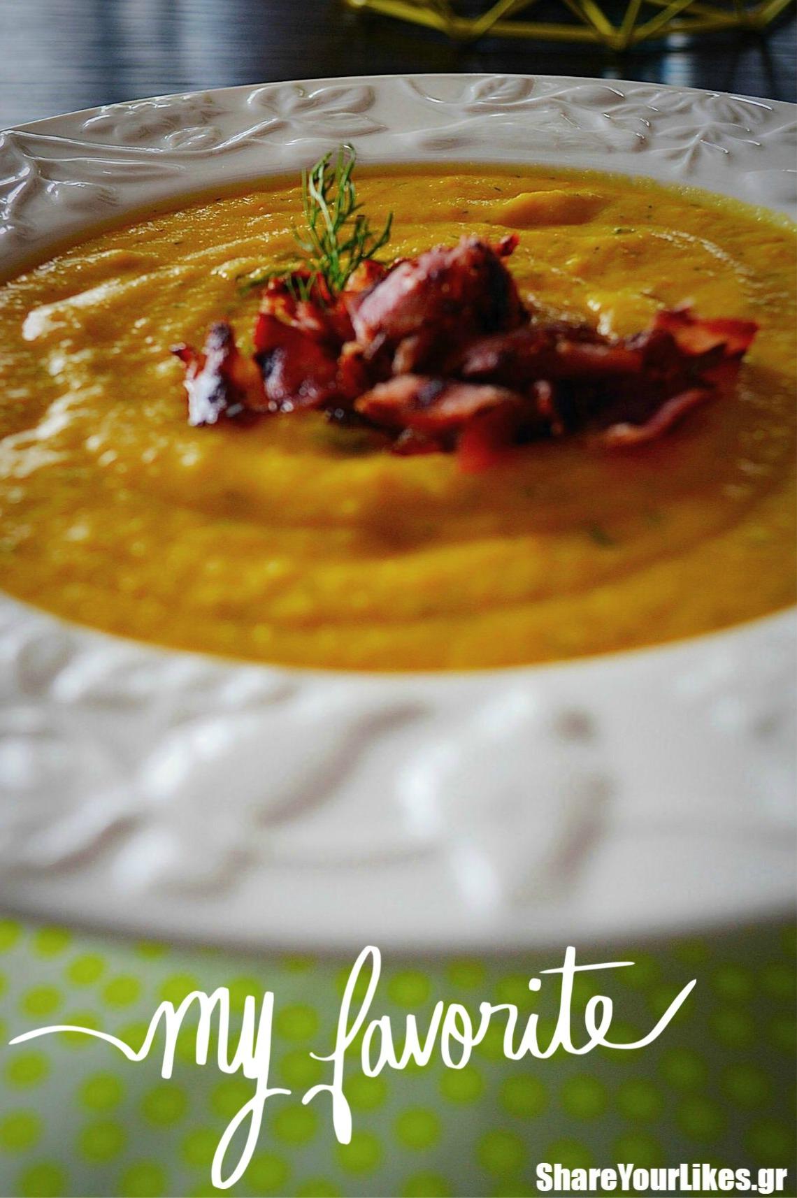 βελουτέ καροτόσουπα με μπέικον_shareyourlikes