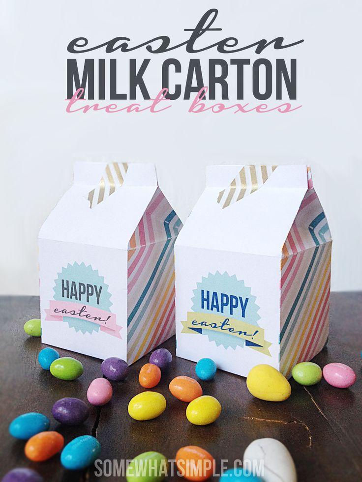 πασχαλινό δωρεάν εκτυπώσιμο κουτί από γάλα