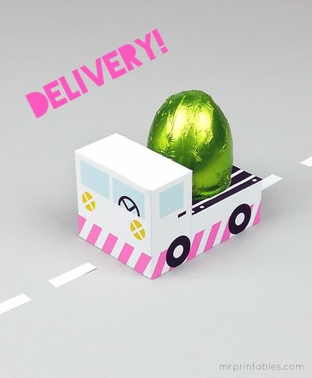 φορτηγάκι_δωρεάν εκτυπώσιμο πασχαλινό κουτί