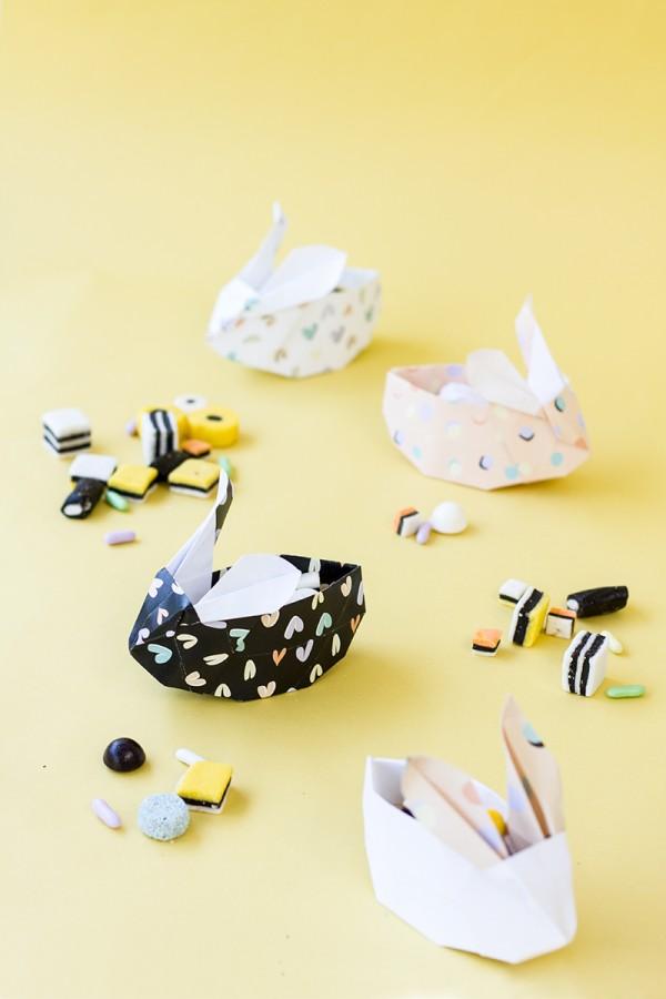 DIY-Origami-πασχαλινά καλαθάκια_λαγουδάκια