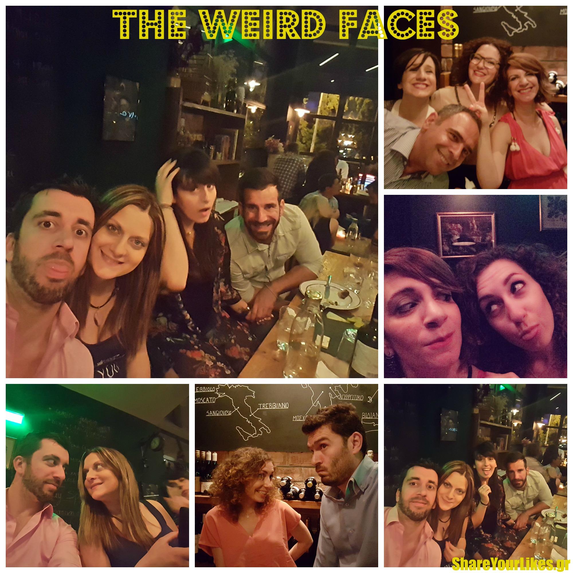 weird faces Collage