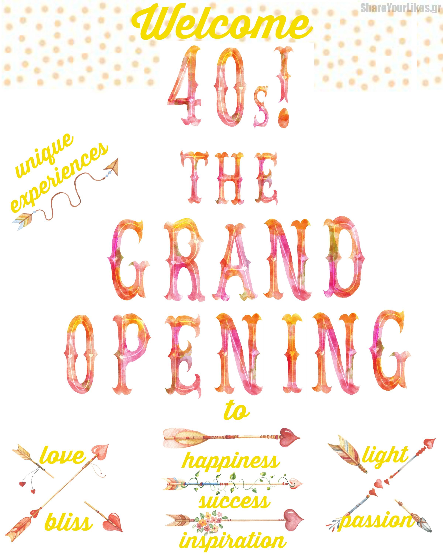 welcome 40s confetti