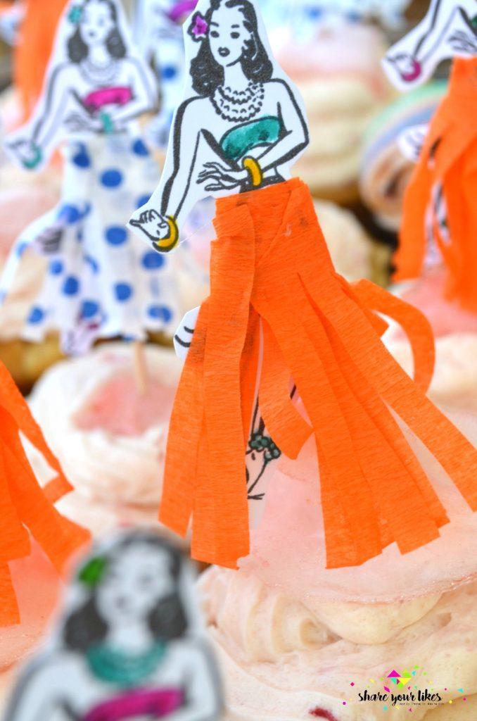 hawaian party_idea gia kerasma_toppers gia cupcakes_tourta